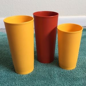 Vintage TUPPERWARE Mixed Set of 3 Tumblers